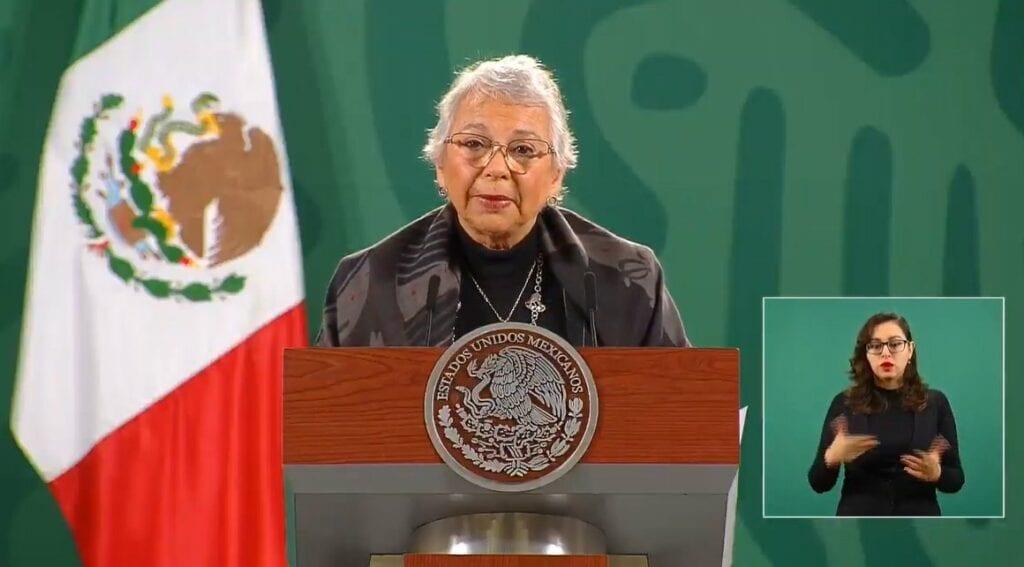 Sánchez Cordero agradeció los buenos deseos por la recuperación de AMLO